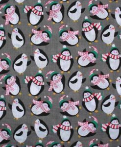 Christmas-Penguins-PolyCotton