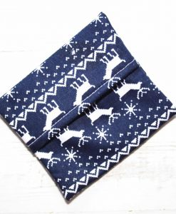 Navy Christmas Knit Gift Box