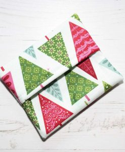 Graphic Christmas Trees Cotton Gift Box