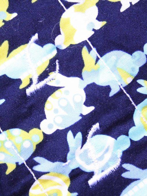 10″ Light Flow cloth pad | Kissing Bunnies Cotton | Blue Wind Pro Fleece | Luna Landings | Sub 2