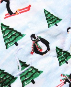 "10"" Liner cloth pad   Christmas Tree Penguins Cotton   Cream Wind Pro Fleece   Luna Landings   Sub"