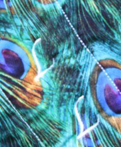 14″ Overnight Extra Heavy Flow cloth pad | Peacock Feathers Cotton | Blue Wind Pro Fleece | Luna Landings | Double Flare 2