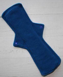 14″ Overnight Extra Heavy Flow cloth pad | Peacock Feathers Cotton | Blue Wind Pro Fleece | Luna Landings | Double Flare 3