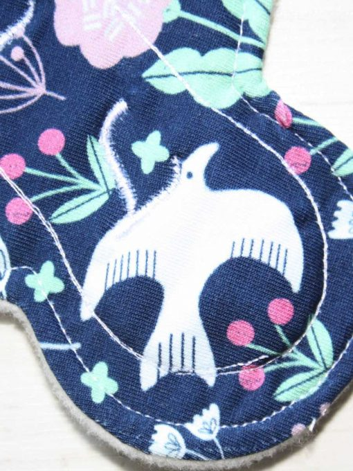 "6"" Liner cloth pad | Woodland Cotton Jersey | Cream Wind Pro Fleece | Luna Landings | Slim Sub"