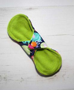 6″ Regular Flow cloth pad   Rainbow Elephants Cotton   Lemongrass Wind Pro Fleece   Luna Landings   Slim Sub 4