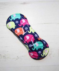 6″ Regular Flow cloth pad   Rainbow Elephants Cotton   Lemongrass Wind Pro Fleece   Luna Landings   Slim Sub 5