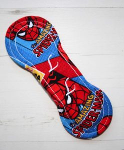 8″ Light Flow cloth pad | Amazing Spiderman Cotton | Red Wind Pro Fleece | Luna Landings | Slim Sub 5