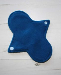 8″ Regular Flow cloth pad | Blue Ink Cotton Jersey | Blue Wind Pro Fleece | Luna Landings | Sub 3
