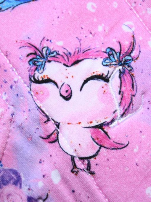 "8"" Regular Flow cloth pad | Cute Owls Bamboo Jersey | Blue Wind Pro Fleece | Luna Landings | Sub"