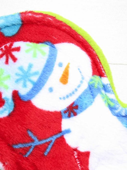 8″ Regular Flow cloth pad | Snowman Plush | Lemongrass Wind Pro Fleece | Luna Landings | Slim Sub 2