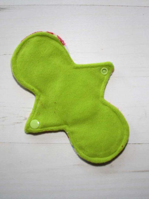 8″ Regular Flow cloth pad | Snowman Plush | Lemongrass Wind Pro Fleece | Luna Landings | Slim Sub 3