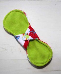 8″ Regular Flow cloth pad | Snowman Plush | Lemongrass Wind Pro Fleece | Luna Landings | Slim Sub 4