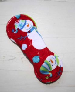8″ Regular Flow cloth pad | Snowman Plush | Lemongrass Wind Pro Fleece | Luna Landings | Slim Sub 5