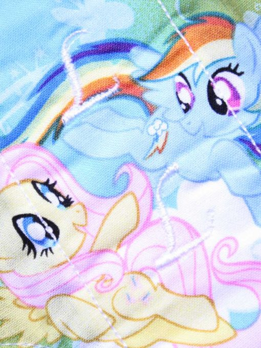 9″ Light Flow cloth pad | Rainbow Ponies Cotton | Blue Wind Pro Fleece | Luna Landings | Sub 2