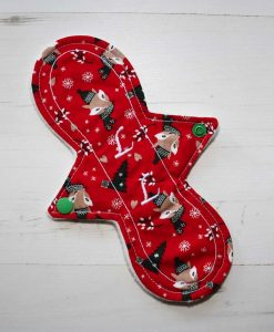 9″ Liner cloth pad | Festive Fox Cotton | Cream Wind Pro Fleece | Luna Landings | Slim Sub 1