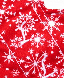 9″ Liner cloth pad | Snowflakes on Red Cotton | Cream Wind Pro Fleece | Luna Landings | Slim Sub 2