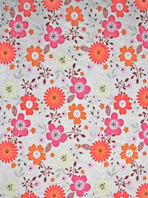 Custom made reusable cloth menstrual sanitary pad (CSP) | Fabric: Top layer - Cotton, Design: County Garden