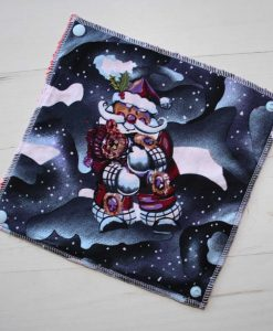 Christmas Santa - Reusable Kitchen Roll - Set of 6