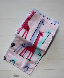 Giraffe Cotton flannel - Family cloth - Set of 8