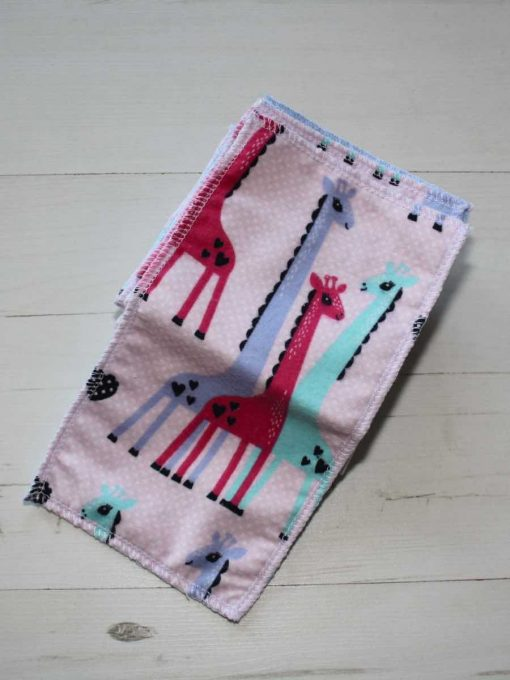 Giraffe Cotton flannel – Family cloth – Set of 8