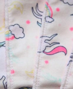 Unicorns Cotton flannel - Family cloth - Set of 8