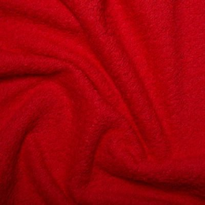 Red Cotton Terry Towelling