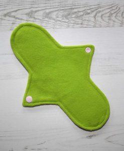 10″ Regular Flow cloth pad | Rose Glitter Cotton Jersey | Lemongrass Wind Pro Fleece | Luna Landings | 3