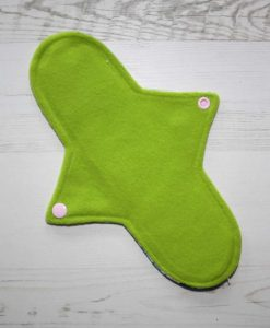 10″ Regular Flow cloth pad | Vintage Ponies Cotton Jersey | Black Wind Pro Fleece | Luna Landings | 3