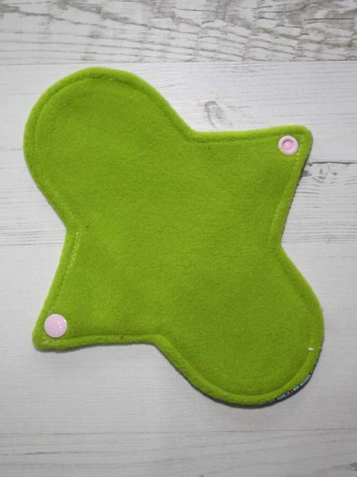 8″ Light Flow cloth pad | Vintage Ponies Cotton Jersey | Charcoal Wind Pro Fleece | Luna Landings | 3