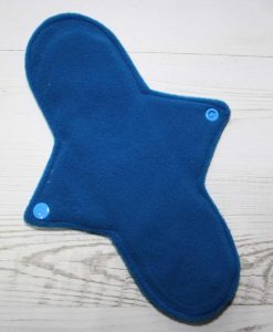 10″ Regular Flow cloth pad | Blue Ink Cotton Jersey | Blue Wind Pro Fleece | Luna Landings | Sub 3