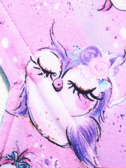 "10"" Regular Flow cloth pad | Cute Owls Bamboo Jersey | Blue Wind Pro Fleece | Luna Landings | Sub"