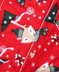 "10"" Regular Flow cloth pad | Festive Fox Cotton | Red Wind Pro Fleece | Luna Landings | Sub"