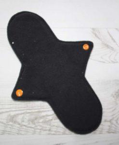 10″ Regular Flow cloth pad | Orange Ink Cotton Jersey | Grey Wind Pro Fleece | Luna Landings | Sub 3