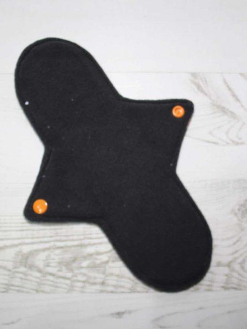 10″ Regular Flow cloth pad | Orange Ink Cotton Jersey | Grey Wind Pro Fleece | Luna Landings | Sub