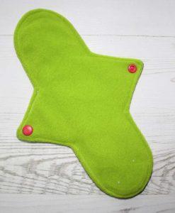 10″ Regular Flow cloth pad | Rainbow Ink Cotton Jersey | Lemongrass Wind Pro Fleece | Luna Landings | Sub 3