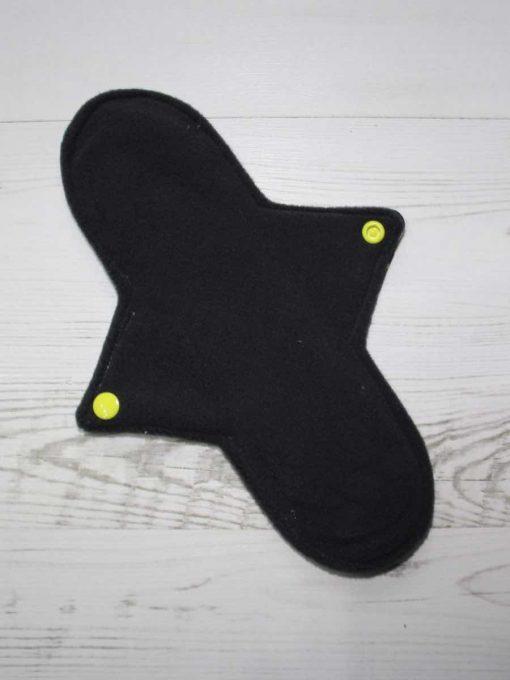 "10"" Regular Flow cloth pad | Yellow Ink Cotton Jersey | Grey Wind Pro Fleece | Luna Landings | Sub"