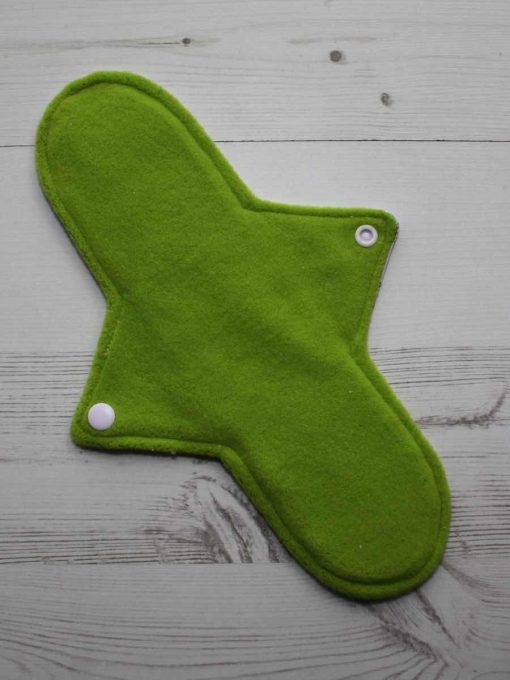 11″ Heavy Flow cloth pad | Vintage Ponies Cotton Jersey | Lemongrass Wind Pro Fleece | Luna Landings | Sub 3