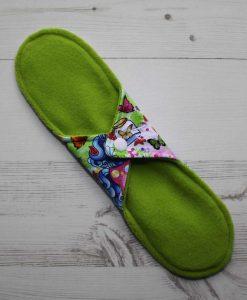 11″ Heavy Flow cloth pad | Vintage Ponies Cotton Jersey | Lemongrass Wind Pro Fleece | Luna Landings | Sub 4