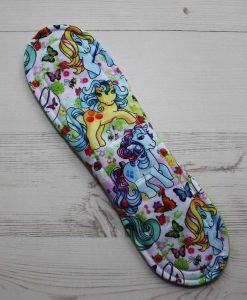 11″ Heavy Flow cloth pad | Vintage Ponies Cotton Jersey | Lemongrass Wind Pro Fleece | Luna Landings | Sub 5