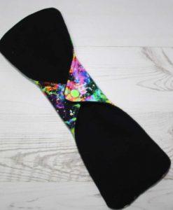 12″ Heavy Flow cloth pad | Neon Galaxy Cotton Jersey | Black Wind Pro Fleece | Luna Landings | Double Flare 4
