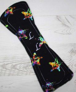 12″ Heavy Flow cloth pad | Neon Stars Cotton Jersey | Black Wind Pro Fleece | Luna Landings | Double Flare 5