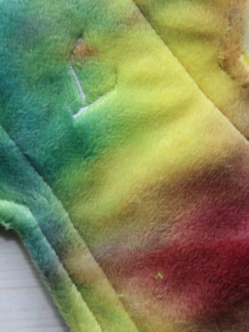 12″ Heavy Flow cloth pad | Rainbow Plush | Yellow Wind Pro Fleece | Luna Landings | Double Flare 2