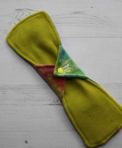 12″ Heavy Flow cloth pad | Rainbow Plush | Yellow Wind Pro Fleece | Luna Landings | Double Flare 4