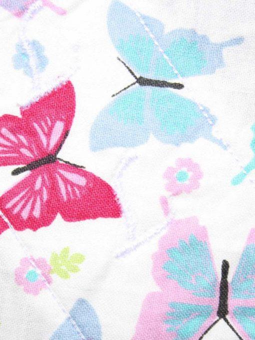 12″ Light Flow cloth pad | Colourful Butterflies Aqua Cotton | Blue Wind Pro Fleece | Luna Landings | Sub 2