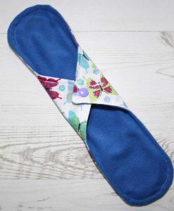 12″ Light Flow cloth pad | Colourful Butterflies Aqua Cotton | Blue Wind Pro Fleece | Luna Landings | Sub 4