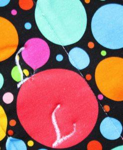 "14"" Overnight Extra Heavy Flow cloth pad | Eco Dot Cotton Jersey | Grey Wind Pro Fleece | Luna Landings | Flared Sub"