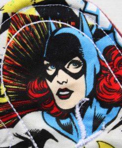 "6"" Regular Flow cloth pad | Batwoman Cotton | Wine Wind Pro Fleece | Luna Landings | Sub"