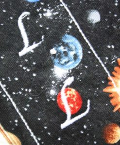 6″ Regular Flow cloth pad | Solar Systems Planets Black Cotton | Blue Wind Pro Fleece | Luna Landings | Sub 2