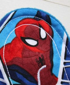 6″ Regular Flow cloth pad | Ultimate Spiderman Cotton | Blue Wind Pro Fleece | Luna Landings | Sub 2