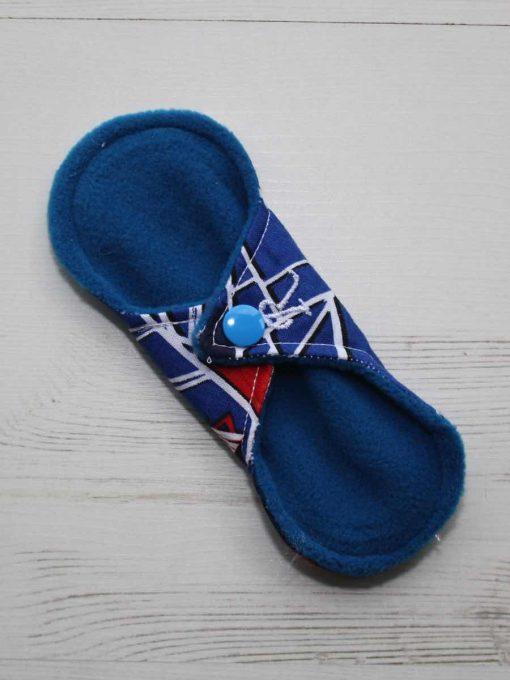 6″ Regular Flow cloth pad | Ultimate Spiderman Cotton | Blue Wind Pro Fleece | Luna Landings | Sub 4